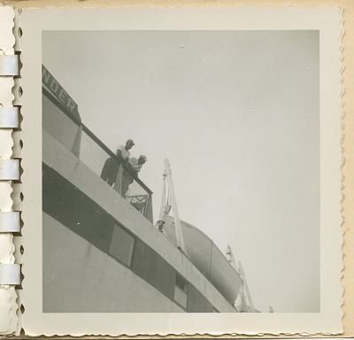Digital image of Taylor family members on board a ship on Martha's Vineyard