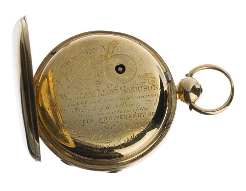 Image for Pocketwatch inscribed to William Lloyd Garrison from George Thompson