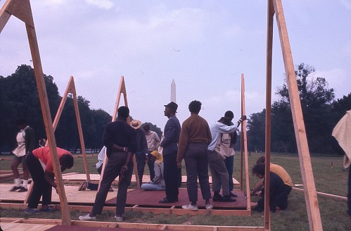 Image for Constructing tents - Resurrection City, Wash., D.C. - 1968