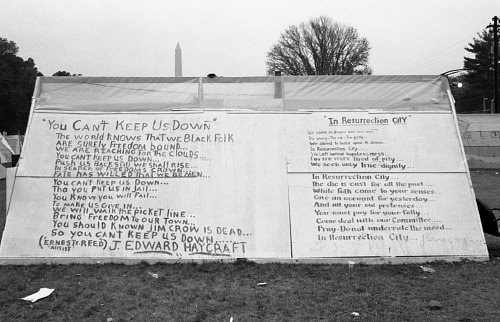 Image for Tent with song lyrics - Resurection City, Wash., D.C. - 1968