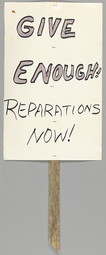 Image for Protest sign calling for reparations for the Tulsa Riot