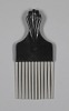 Thumbnail for Afro hair comb with black fist design