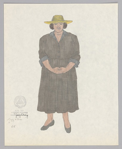 Image for Costume design drawing by Judy Dearing for Porgy and Bess