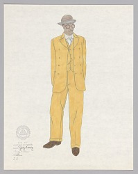Costume design drawing by Judy Dearing for Robbins in Porgy and Bess