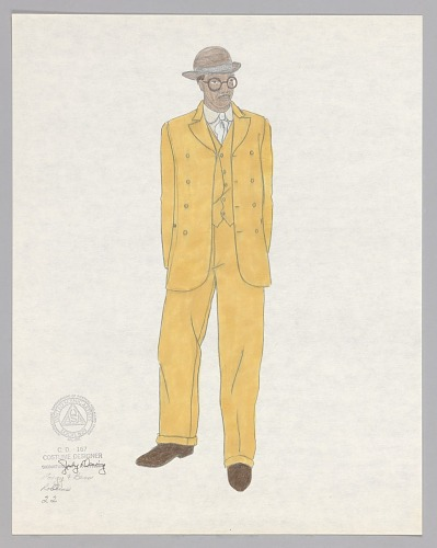 Image for Costume design drawing by Judy Dearing for Robbins in Porgy and Bess
