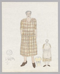 Costume design drawing by Judy Dearing for Annie in Porgy and Bess