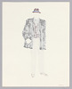 Thumbnail for Costume design drawing by Judy Dearing for Bobo in A Raisin in the Sun