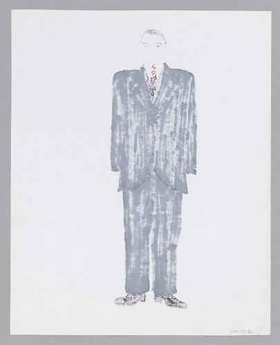 Image for Costume drawing by Judy Dearing for Seth Holly in Joe Turner's Come and Gone