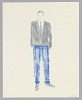 Thumbnail for Costume design drawing by Judy Dearing for Joseph Asagai in A Raisin in the Sun