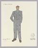 Thumbnail for Costume drawing by Judy Dearing for the Moving Men in A Raisin in the Sun