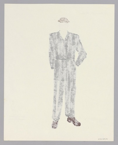 Image for Costume drawing by Judy Dearing for the Moving Men in A Raisin in the Sun