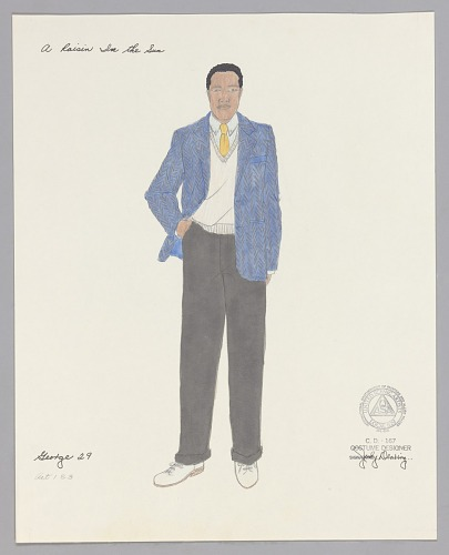Image for Costume drawing by Judy Dearing for George Murchison in A Raisin in the Sun