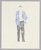 Thumbnail for Costume drawing by Judy Dearing for George Murchison in A Raisin in the Sun