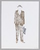 Thumbnail for Costume design drawing by Judy Dearing for Karl Lindner in A Raisin in the Sun
