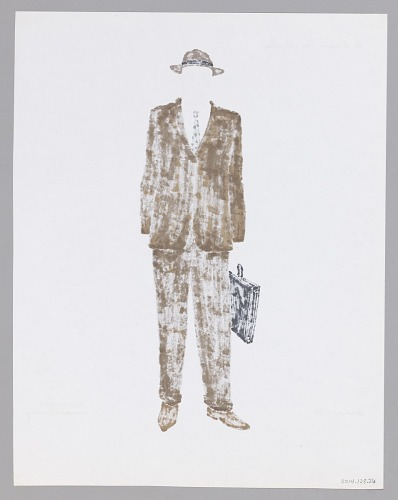 Image for Costume design drawing by Judy Dearing for Karl Lindner in A Raisin in the Sun