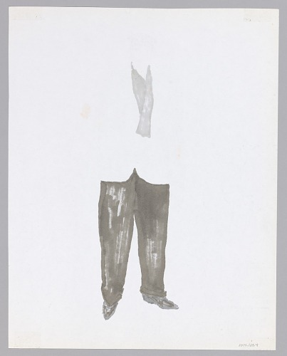 Image for Costume drawing by Judy Dearing for The Homeless Man in Swinging on a Star
