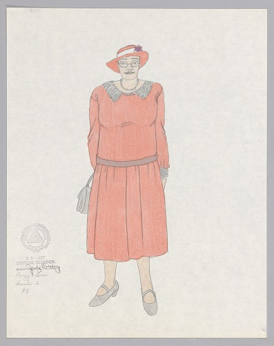 Image for Costume design drawing by Judy Dearing for Annie in Porgy and Bess