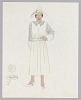 Thumbnail for Costume design drawing by Judy Dearing for Maria in Porgy and Bess