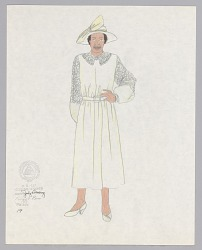 Costume design drawing by Judy Dearing for Maria in Porgy and Bess