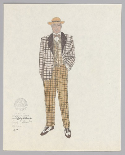 Image for Costume design drawing by Judy Dearing for Nelson in Porgy and Bess