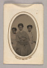 Thumbnail for Tintype in a paper case of three unidentified young women seated