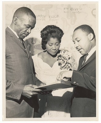 Photograph of Mahalia Jackson with Dr. Martin Luther King
