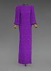 thumbnail for Image 1 - Purple dress designed by Oscar de la Renta and worn by Whitney Houston