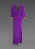 thumbnail for Image 3 - Purple dress designed by Oscar de la Renta and worn by Whitney Houston