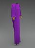 thumbnail for Image 7 - Purple dress designed by Oscar de la Renta and worn by Whitney Houston