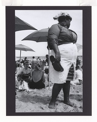 <I>Woman and Umbrellas, Coney Island</I>