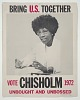 Thumbnail for Poster for presidential candidate Shirley Chisholm