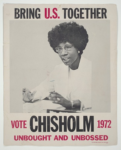 Image for Poster for presidential candidate Shirley Chisholm
