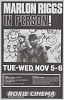 Thumbnail for Poster advertising Marlon Riggs In Person!