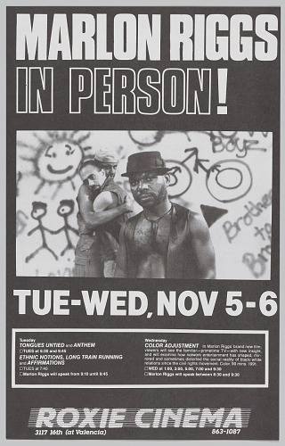 Image for Poster advertising Marlon Riggs In Person!
