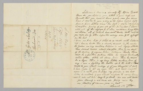 Image for Letter to Giles Saunders from Samuel M. Fox concerning the slave trade