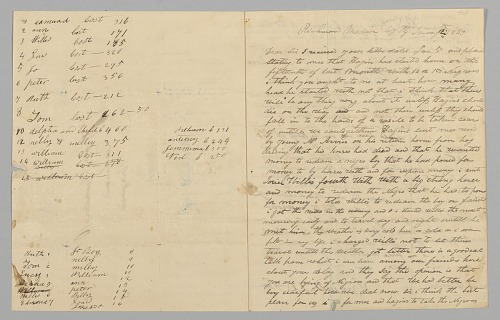 Image for Letter to Giles Saunders from Samuel Fox regarding the slave trade