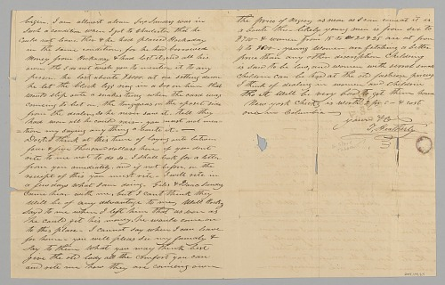 Image for Letter to M. C. Taylor from T. Heatherly regarding the slave trade