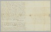 Thumbnail for Letter to Samuel Fox from Giles Saunders regarding the slave trade