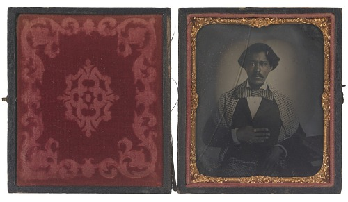 Image for Tintype of John H. Copeland in an embossed leather case
