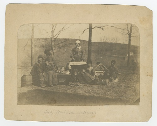 Image for Albumen print of enslaved women and their children near Alexandria, Virginia