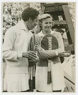 Photograph of Althea Gibson with Louise Brough