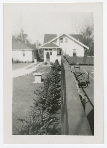 Image for Photograph of the private tennis court at Dr. Eaton's house