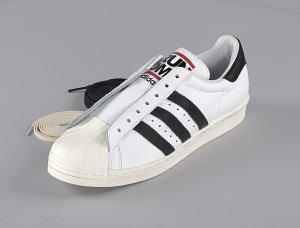 images for Pair of white and black Run-D.M.C. Superstar 80s sneakers made by Adidas-thumbnail 3