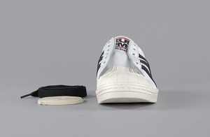 images for Pair of white and black Run-D.M.C. Superstar 80s sneakers made by Adidas-thumbnail 4