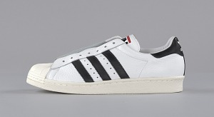 images for Pair of white and black Run-D.M.C. Superstar 80s sneakers made by Adidas-thumbnail 7