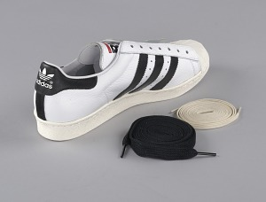 images for Pair of white and black Run-D.M.C. Superstar 80s sneakers made by Adidas-thumbnail 12