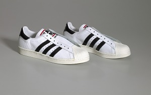 images for Pair of white and black Run-D.M.C. Superstar 80s sneakers made by Adidas-thumbnail 1