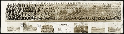 Photograph of World War II soldiers from Company D, 8th Battalion, Ft. Belvoir