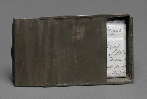 Image for Freedom papers and handmade tin carrying box belonging to Joseph Trammell