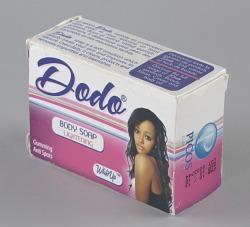 Dodo Body Lightening soap and packaging